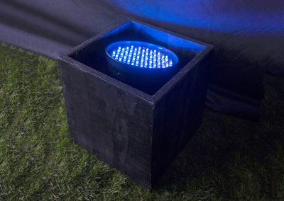 LED vloerspot  7,50,-